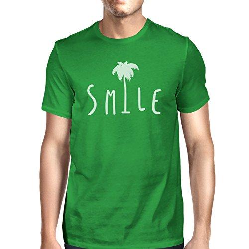 Tree para corta manga 365 Smile hombre Palm de una talla Camiseta Green Printing wXxXtqUP