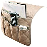 IPENNY Couch Sofa Armrest Organiser Chair TV Remote Holder Bed Storage Pocket Bag for Cellphone Tablet Notepad Book…