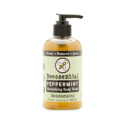 Beessential Body Wash, Peppermint, 8 Ounce