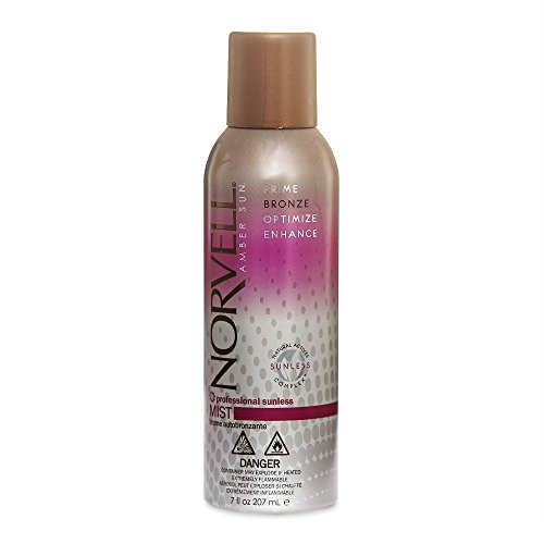 Norvell Professional Sunless Self-Tanning Mist - Airbrush Spray Solution with Bronzer for Instant Sun Kissed Glow, 7 fl.oz.