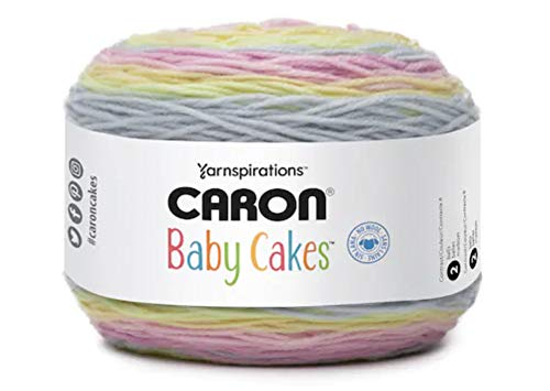 Caron Baby Cakes Self-Striping Yarn, 8.5 oz. / 240g, 560 Yards / 512 Meters (Cotton Candy 294955-55013)