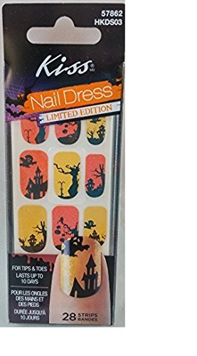 Kiss Nail Dress Halloween Haunted House Nail Stickers Limited (Kiss Halloween Nail Stickers)