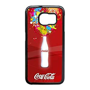 Protection Cover Samsung Galaxy S6 Edge Cell Phone Case Black Quesy Coca Cola Personalized Durable Cases