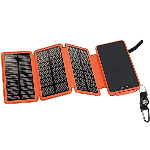 soyond Solar Qi Power Bank Solar Wireless Phone Charger Protable Qi Battery Pack 20000mAh Waterproof with Dual Ports for iPhone, Andriod Phone, iPad(Orange Wireless Charger) by soyond (Image #6)