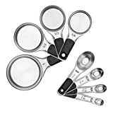 OXO Good Grips Measuring Cups and Spoons Set, Stainless Steel