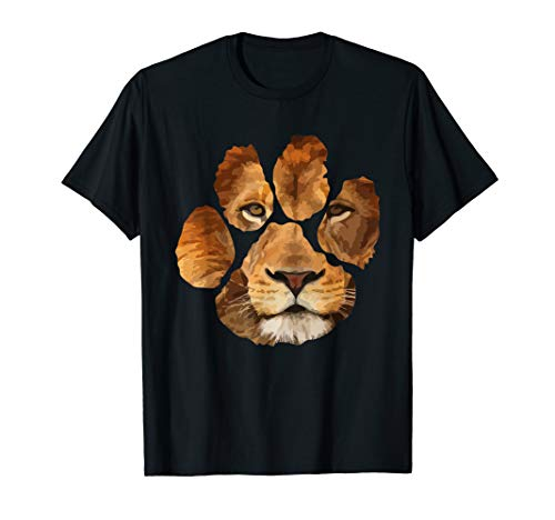 Lion Paw Print Animal T-Shirt]()