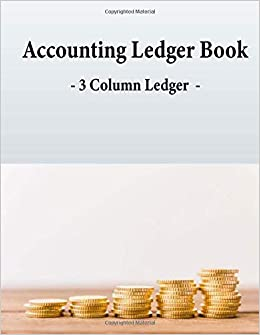 amazon accounting ledger book 3 column ledger income