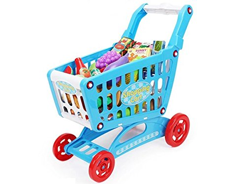 AMPERSAND SHOPS Musical Toy Shopping Cart with Goodies (Blue) by AMPERSAND SHOPS (Image #7)