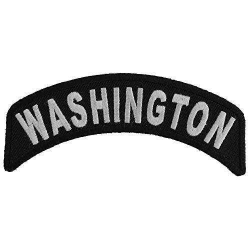 Washington Patch - 4x1.75 inch. Embroidered Iron on Patch