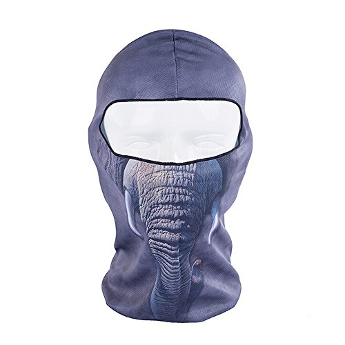 [Ezyoutdoor Full Face Motorcycle Bicycle Bike Skull Mask Snowmobile Hood Neck Balaclava Hat Animal Outdoor Sport Cosply Costume] (Makeup For A Bat Costume)