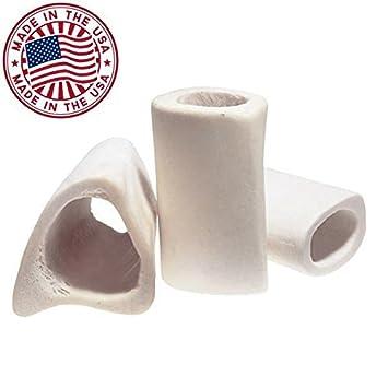 White Dog Bones – 3 Long Natural Bulk Femur Beef Dog Dental Treats Chews, Made in USA, American Made, Shin Femur Cleaned Bone