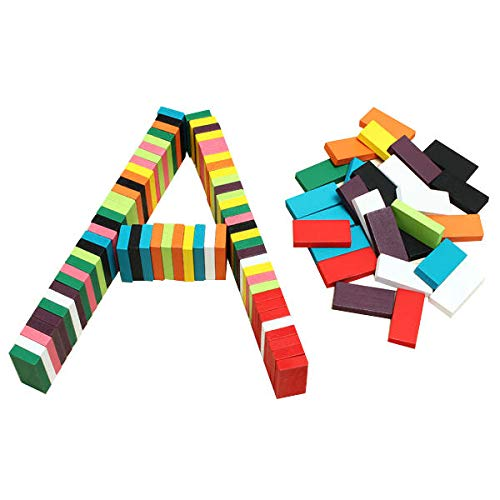 100pcs Colors Authentic Standard Wooden Children Domino Toys - Model & Building Toys Blocks Toys - 1 x Domino Toy Game Set