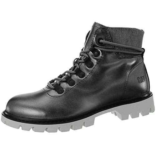 Caterpillar Handshake Womens Other Leather Material Ankle Boots Gunmetal