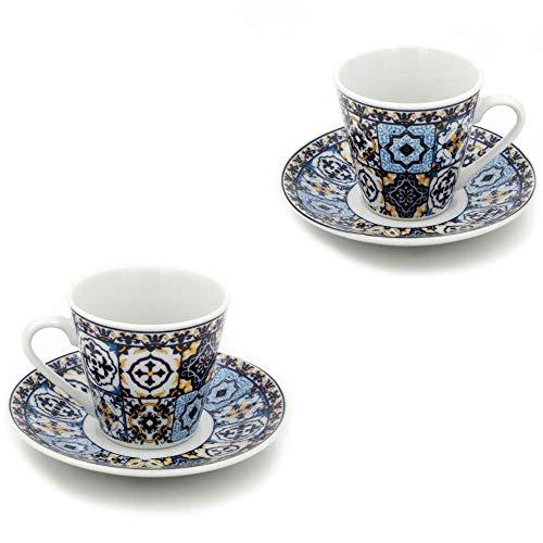 Portugal Ceramic - Portuguese Ceramic Espresso Cups Souvenir from Portugal - Set of 2