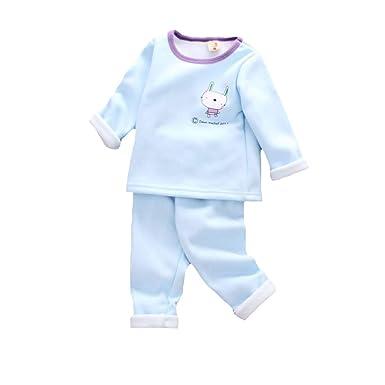 76b832b85399d Junkai Garçons Filles Pyjamas Ensemble Vêtements Enfant en Molleton  Vêtements De Nuit Imprimé Animalier Vêtements De