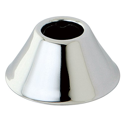 Kingston Brass FLBELL121 Columbia 1/2-Inch IPS Bell Flange, Polished Chrome ()