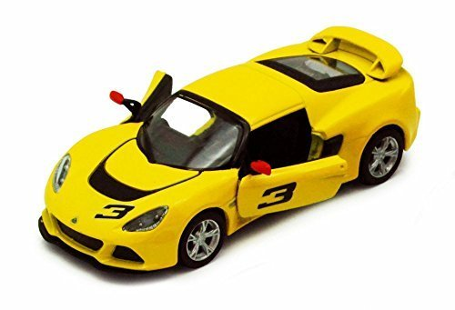 2012 Lotus Exige S #3, Yellow - Kinsmart 5361D - 1/32 scale Diecast Model Toy Car