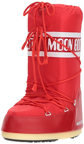 (Tecnica Moon Boot Unisex Nylon Winter Boot,Red, 39-41 EU, 7-8.5 US Men's, 8-10 US)