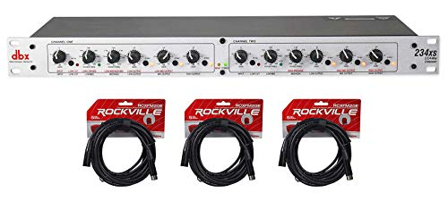 DBX 234XS Rack Mount Stereo 2/3/4-Way Crossover Pro Audio Sound Processor+Cables ()