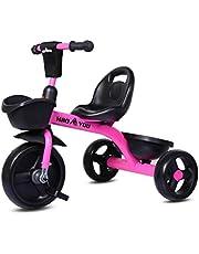 Kinderen driewieler scooter, Kids 3 wiel pedaal Trike, Kids Trike voor jongens meisjes, Baby Balance Bike met voor- en achtermand, Peuters driewieler kinderen cadeau voor 2-6 jaar