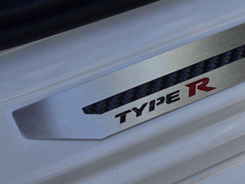 Sottoporta In Acciaio per Civic X Type R V FK8-4 Pezzi Battitacco Protezione Soglia Entrata Inox Metallo Spazzolato Interni Fatto Su Misura Decorazioni Tuning