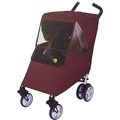 Hippo Collection Universal Stroller Weather Shield - Burgundy, One Size