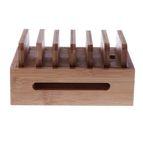 Homyl Bamboo Mobile Phone Holder Mount Station Wooden Desktop Tablet Dock Cradle by Homyl (Image #5)