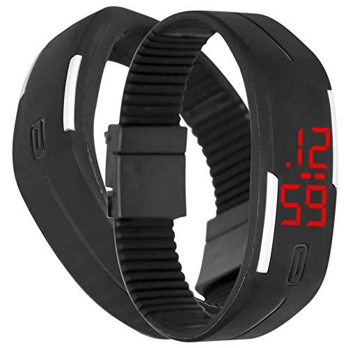 Reloj Touch Digital Deportivo De Pulsera Color Negro