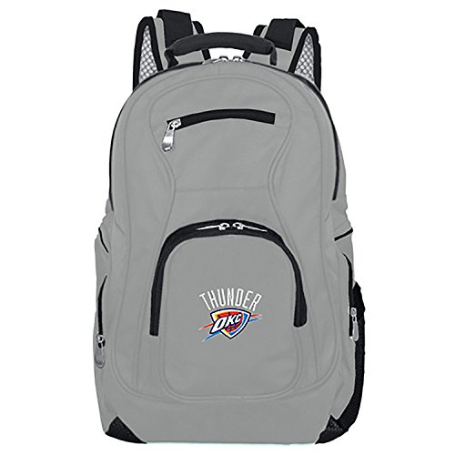 NBA Oklahoma City Thunder Voyager Laptop Backpack, 19-inches, Grey from Denco