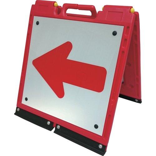 仙台銘板 ソフト サインボード ミニ 赤 白 反射 矢印板 アロー B01N28GRPS