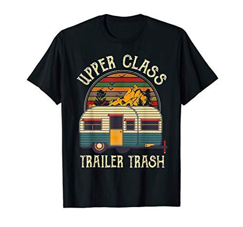 Little Trailer Giant - Upper Class Trailer Trash Retro Vintage Sunset Tshirt