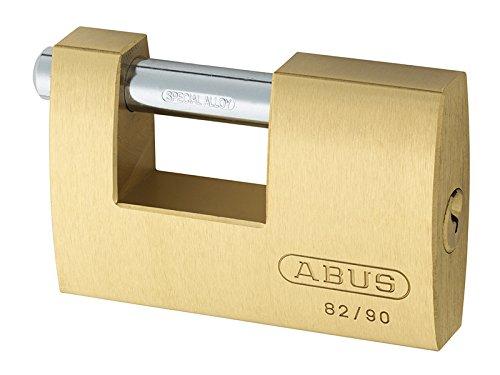 Monoblock Padlock - Abus 82/90 90mm Monoblock Brass Shutter Padlock Keyed Alike 8523