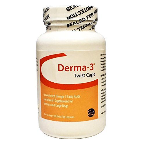 Derma3 Twist Caps for Large Dogs 60 TwistTips Capsules