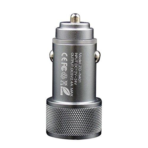 2-port USB Universal Car Charger 12V Lighter Socket (Silver) - 2