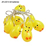 Laideyilan 20 Led Lovely Christmas Yellow Duck String Lights New LED Animal Modeling Light String Children's Room Decoration Theme Party Christmas Halloween Decorative Lights