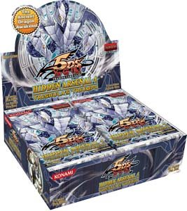YuGiOh 5Ds Hidden Arsenal 4 Trishulas Triumph Booster Box 24 Packs (Trishula Dragon Of The Ice Barrier Price)