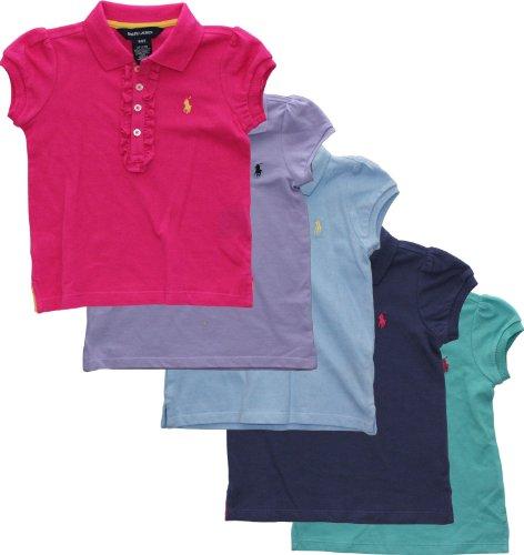 Ralph Lauren Toddler Girls Ruffled Placket Polo