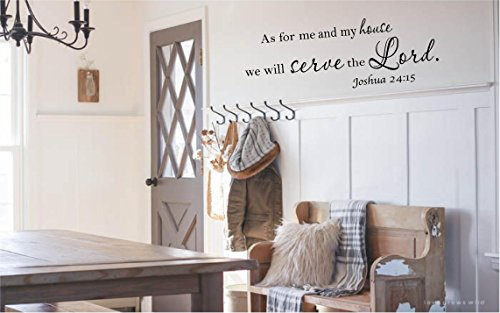 #3 As for me and my house, we will serve the Lord Vinyl wall art Inspirational quotes and saying home decor decal sticker -