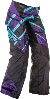 Fly Racing Unisex-Adult Kinetic Ladies OverBoots Pants (Purple/Blue, Size 24)