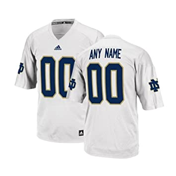 95295cb6c0c White Custom Notre Dame Football Jersey: Amazon.co.uk: Sports & Outdoors