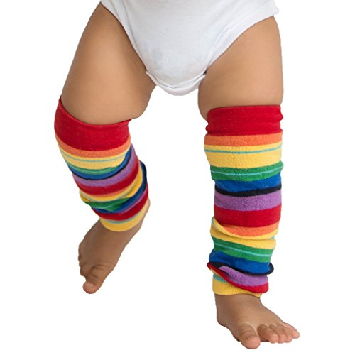 - Huggalugs Girls or Boys Retro Rainbow Striped Leg Warmers