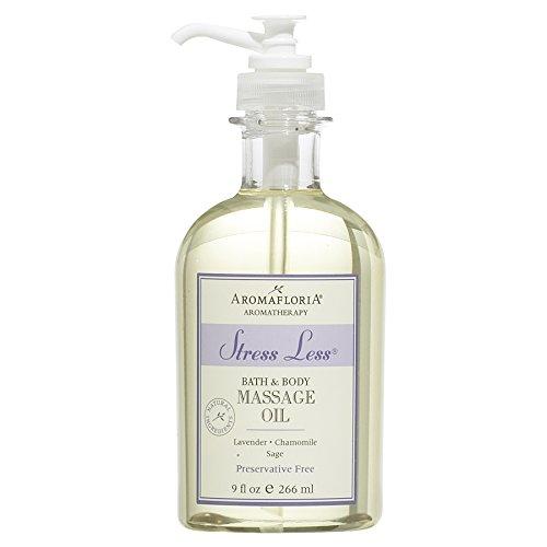 Aromafloria Bath & Body Massage Oil, Stress Less - 9 fl (Stress Massage Oil)