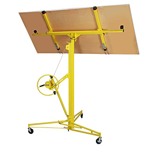 Idealchoiceproduct 16' Drywall Lift Rolling Panel Hoist Jack Lifter Construction Caster Wheels Lockable Tool Yellow by Idealchoiceproduct (Image #1)