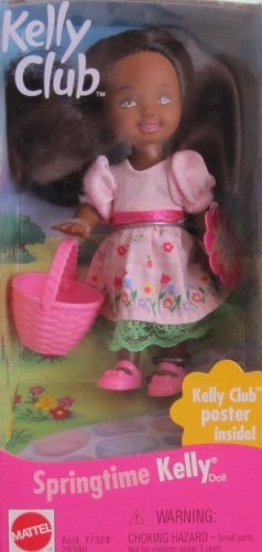 (Barbie SPRINGTIME KELLY Doll AA w Kelly Club Poster!)