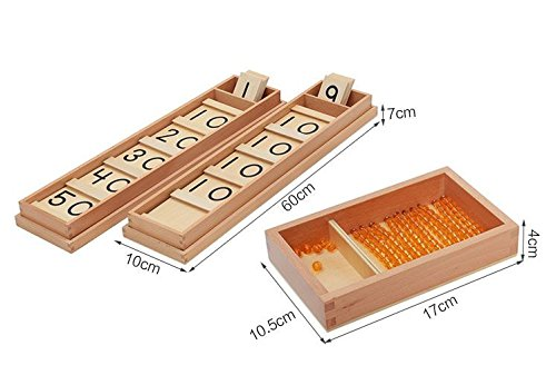 Montessori Math Teens and Tens Seguin Board with Bead Bars Wood Toys Early Childhood Education Preschool Training Baby by DANNI (Image #9)