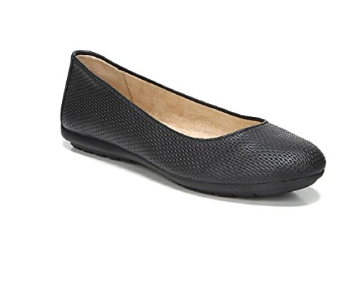 Flat W Naturalizer Black Embossed Una US Black Women's 8 YYqBwtr