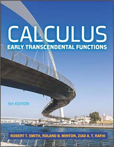 Calculus Early Transcendental Functions 5e Smith Robert T