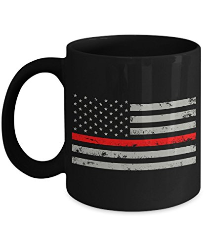 Thin Red Line Flag Coffee Mug - Firefighter Courage Cup - As Seen On T-Shirt – Super Cool Gifts For 2017 Great Quality Ultimate Desk Gifts (Crochet Beer Can Hat)