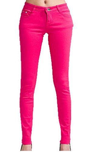 Vanilla Inc - Jeans - Femme noir * taille unique Fuchsia