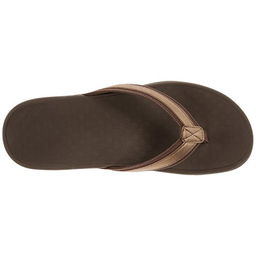 Vionic Womens Islander Tide II Leather Sandals Bronze Metallic XldnPS
